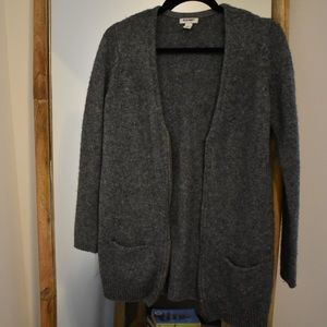 Gray Sweater With Zipper